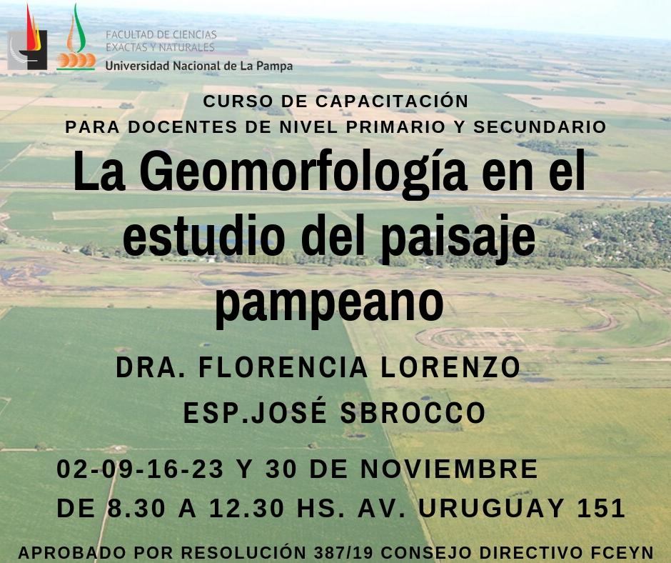 La Geomorfología en el estudio del paisaje pampeano